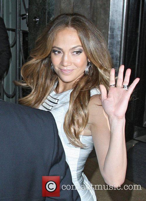 Jennifer Lopez steps out of Claridges Hotel in...