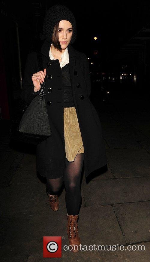Keira Knightley leaving J Sheekey restaurant London, England