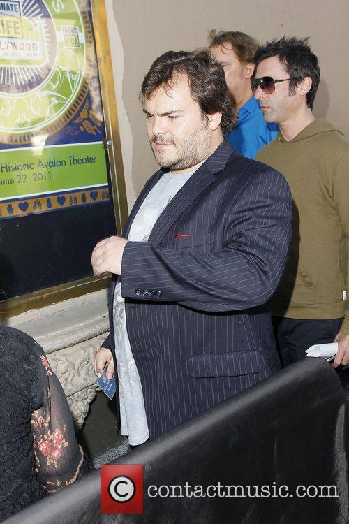 Jack Black arrives at Avalon as a nominee...