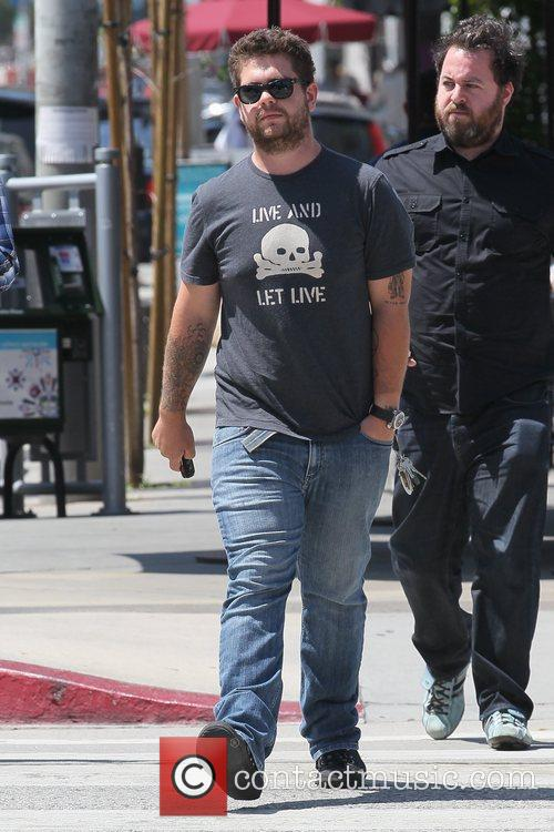 Jack Osbourne leaving Urth Caffe after having lunch...