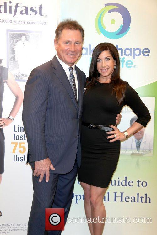 Dr Wayne Andersen with Jacqueline Laurita as she...