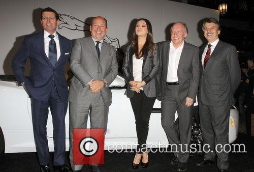 Mila Kunis and Jaguar Team Jaguar Land Rover...