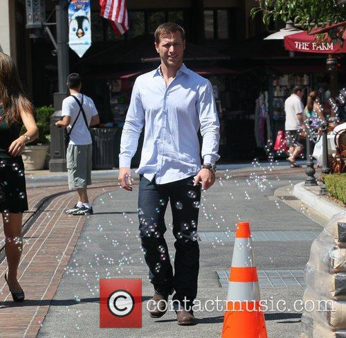 Jake Pavelka is seen out shopping at The...