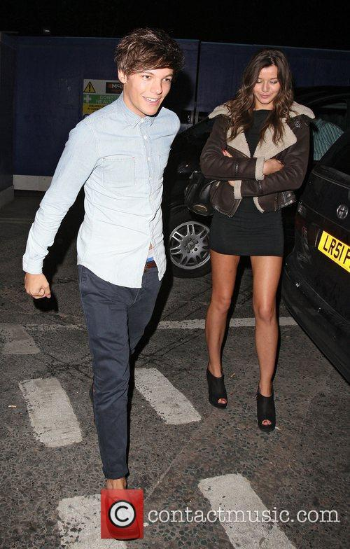 Louis Tomlinson outside Jalouse nightclub.