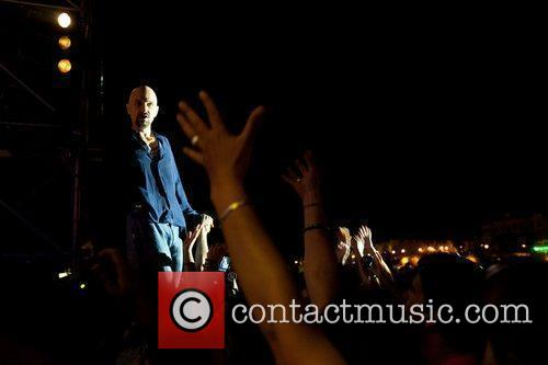 Tim Booth of James performing live in Festas...