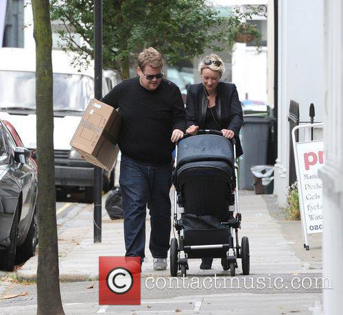 James Corden and his wife Julia Carey take...