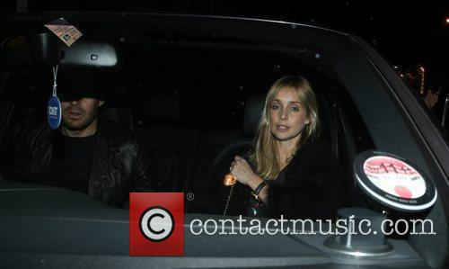 Jamie Redknapp and wife Louise Redknapp leaving Nobu...