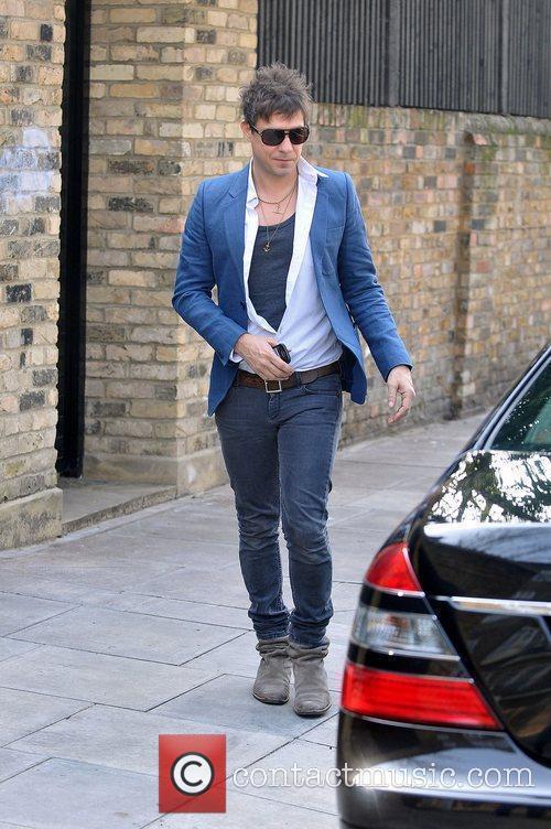 Jamie Hince leaving home London, England