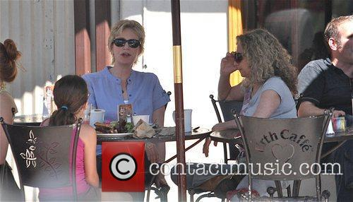 Leaves Urth Cafe in West Hollywood after having...