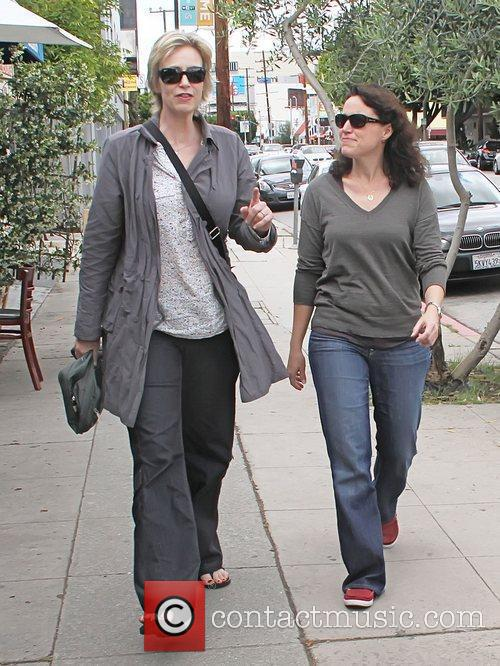 Jane Lynch and her wife, Dr. Lara Embry,...
