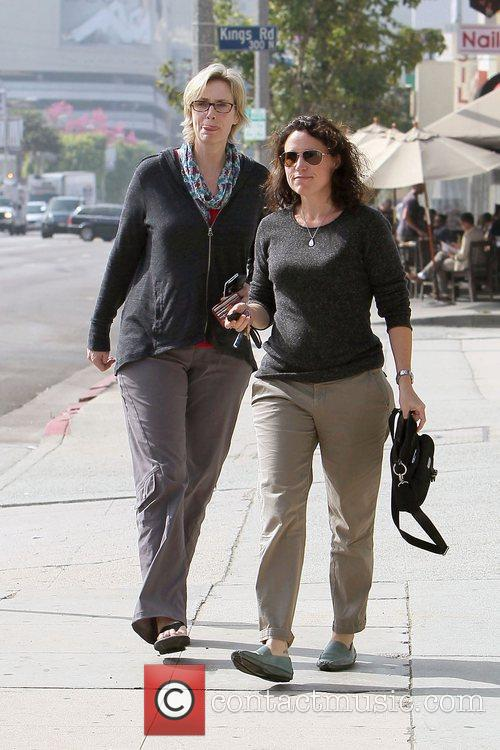 Glee star Jane Lynch and her partner Dr...