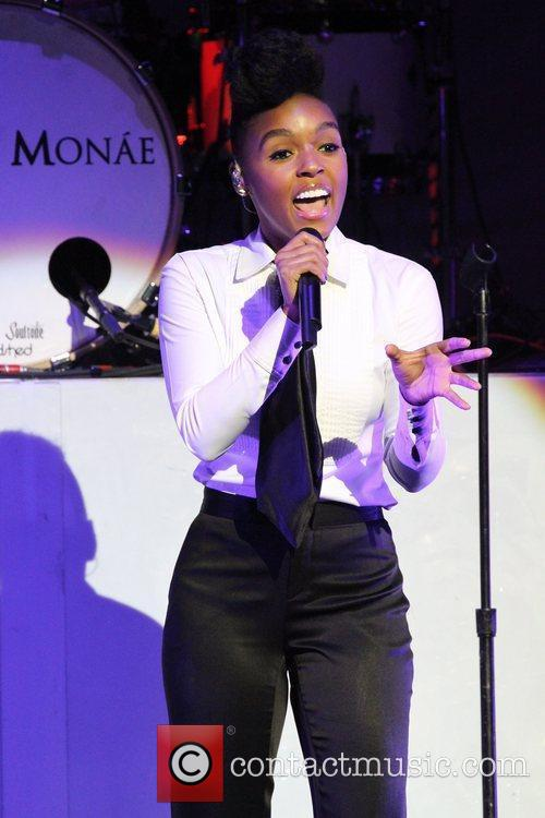 Janelle Monae performing live at The Pearl Theater...