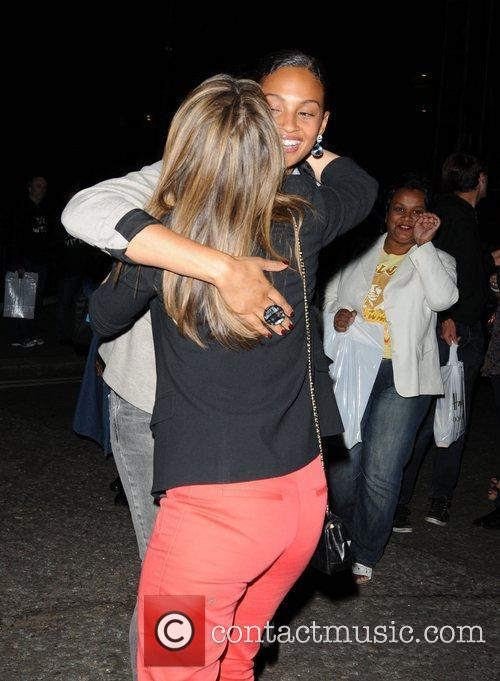 Alesha Dixon and Rachel Stevens Celebrities departing the...