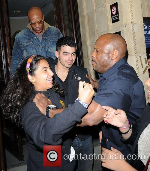 Celebrities departing the Janet Jackson concert at The...