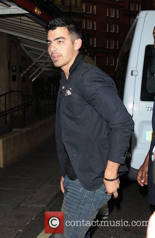 Joe Jonas Celebrities departing the Janet Jackson concert...