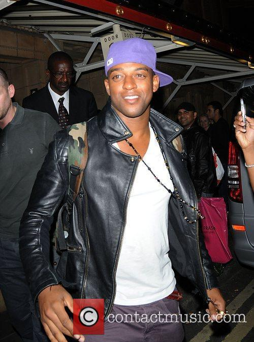 Oritse Williams Celebrities departing the Janet Jackson concert...
