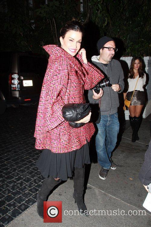 Janice Dickinson arriving at the Chateau Marmont party