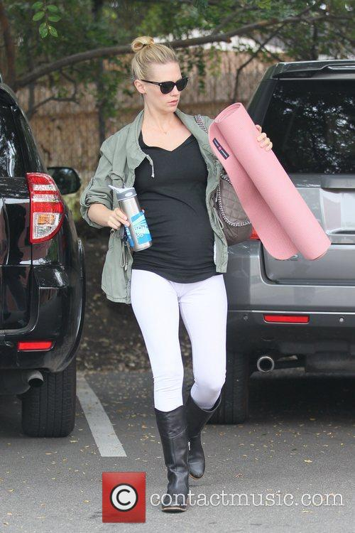 January Jones goes to a yoga class in...