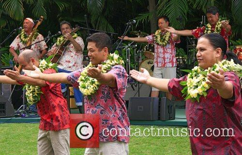 Brothers Cazimero performing at 'Kokua For Japan' fundraiser...