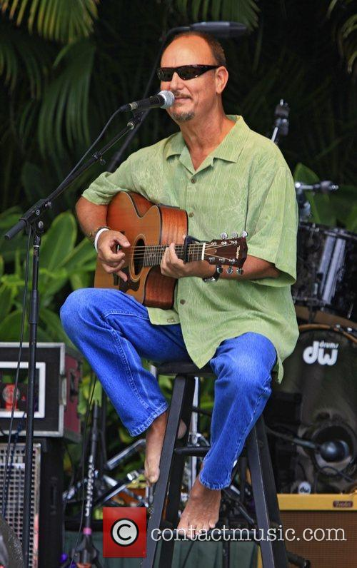 Jerry Santos performing at 'Kokua For Japan' fundraiser...
