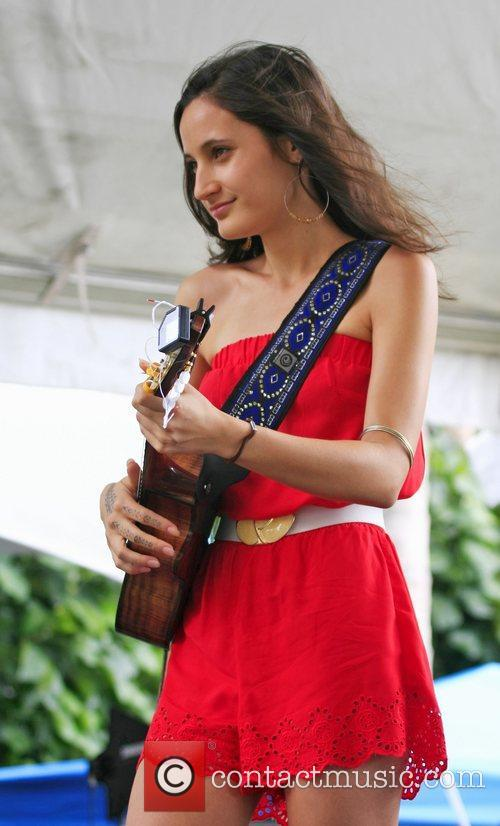 Taimane performing at 'Kokua For Japan' fundraiser concert...