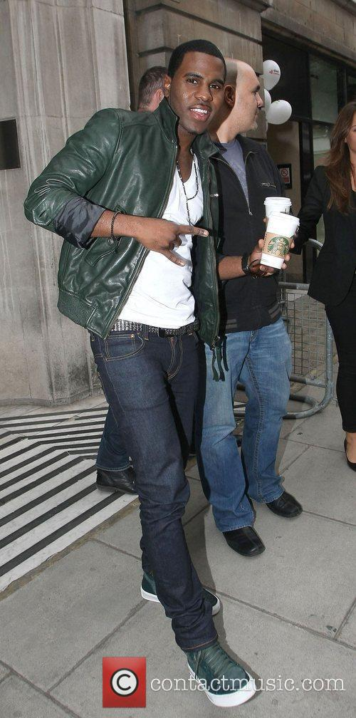 R&B superstar Jason Derulo leaves the BBC Radio...