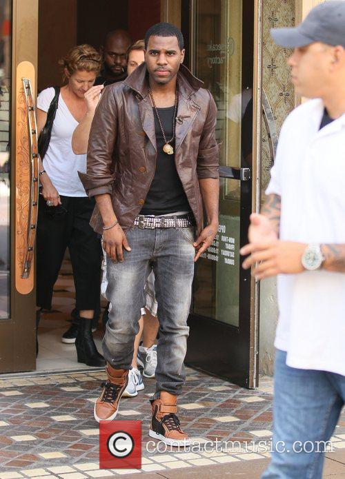 Jason Derulo is interviewed at The Grove for...