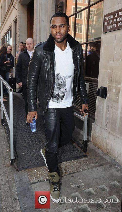 Jason Derulo leaves the Radio 1 studios.