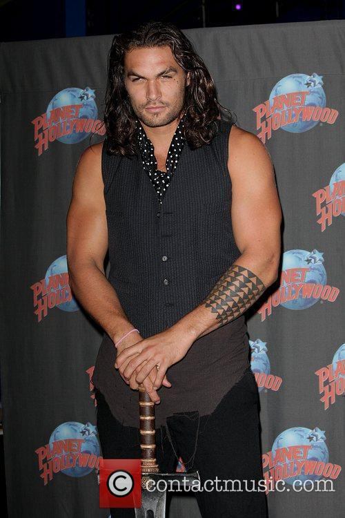 Promotes his starring role in 'Conan the Barbarian'...