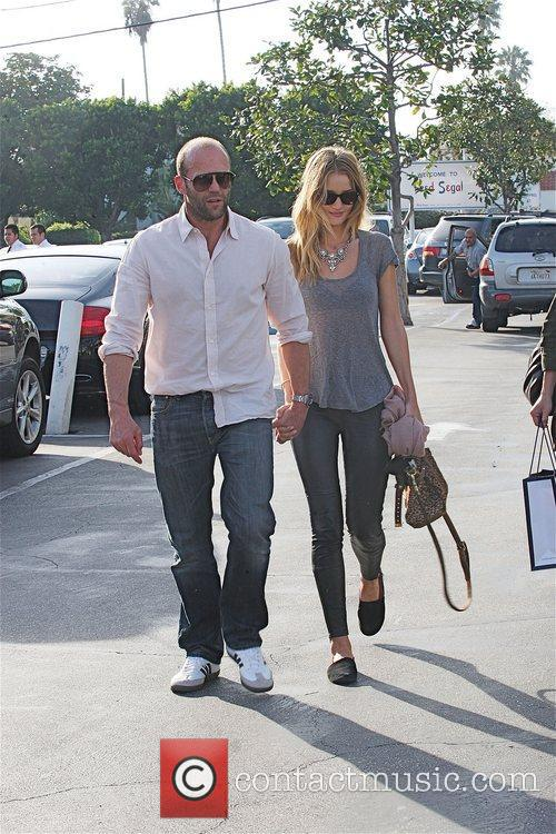 Jason Statham, Fred Segal and Rosie Huntington-whiteley 1