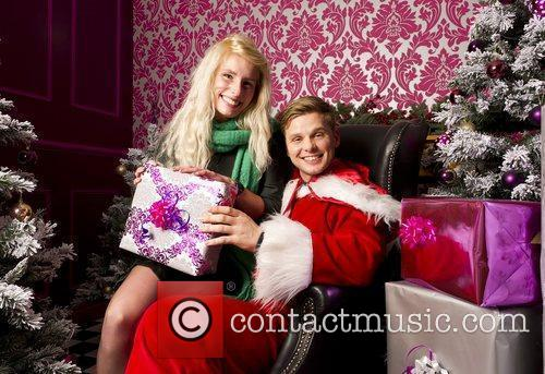 Jeff Brazier dresses up as Santa Claus at...