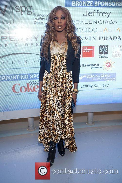 Bebe Zahara Benet Jeffrey Fashion Cares 2011 held...