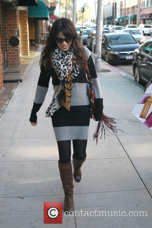 Actress Jenna Dewan is seen leaving the Khalsa...