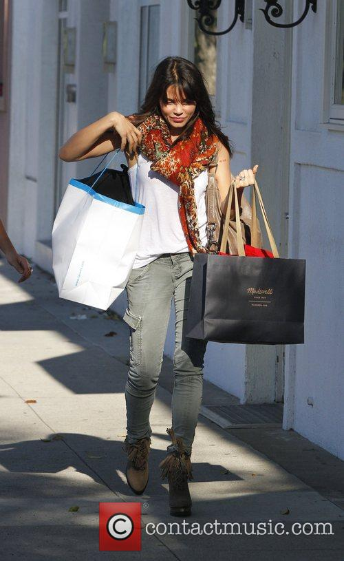 Jenna Dewan goes shopping in Beverly Hills
