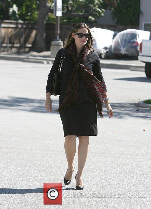 Jennifer Garner is seen in a chic all...