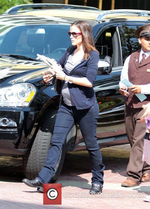 Pregnant Jennifer Garner is seen waking through The...