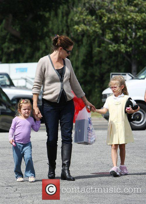 Jennifer Garner out and about with her daughters...