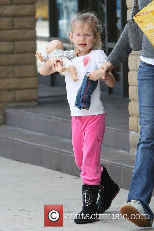 Violet Affleck, out shopping with her mother in...