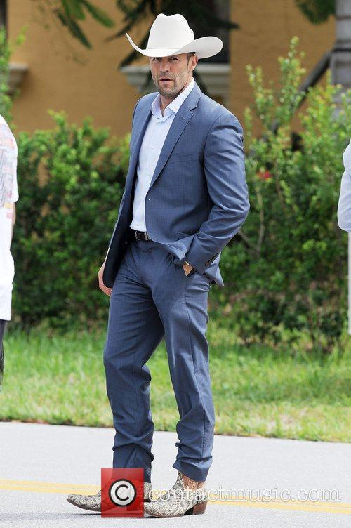Jason Statham is sighted on the set of...