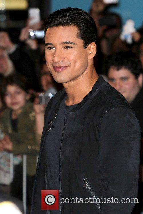 Mario Lopez on his show, Extra