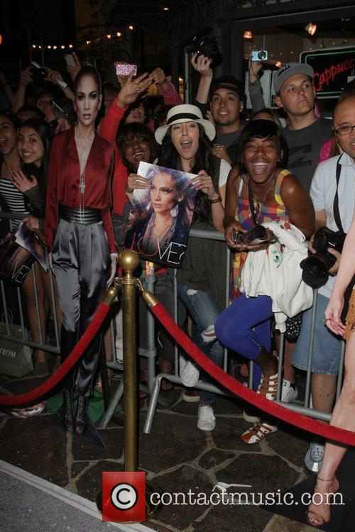 Jennifer Lopez is interviewed at The Grove by...