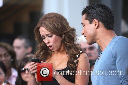 Jennifer Love Hewitt with Mario Lopez on the...