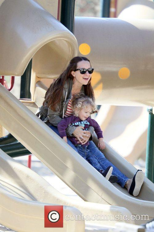 Jennifer Meyer takes her daughter Ruby Sweetheart Maguire...