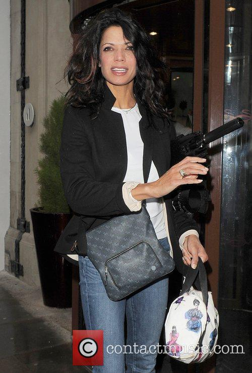 TV presenter Jenny Powell out shopping in Soho