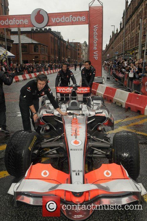 Jenson Button's Vodafone McLaren Mercedes F1 Vodafone VIP...