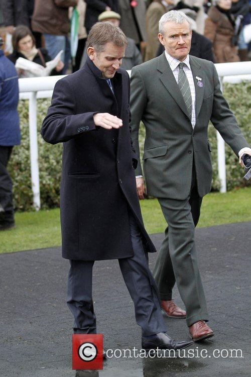 Jeremy Kyle and Nick Mustoe at Kempton Park...