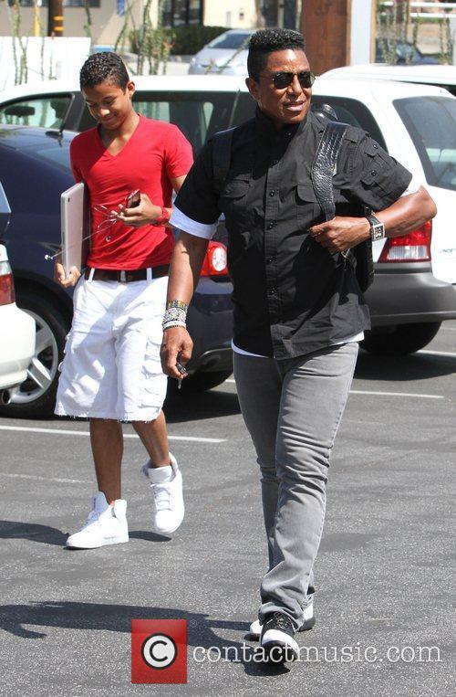 Jermaine Jackson arriving at a studio in Burbank...