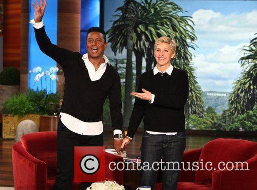 Jermaine Jackson appears on 'The Ellen DeGeneres Show'...