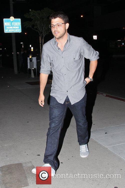 Jerry Ferrara arriving at BOA Steakhouse in West...