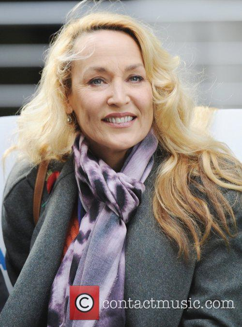 Jerry Hall  at a photocall for Emmaus...